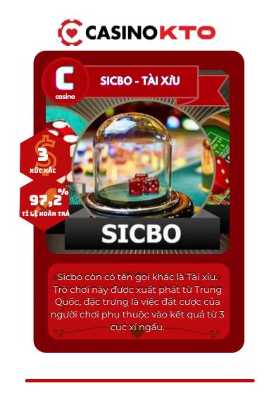 Sicbo Tai xiu - Nhà cái KTO
